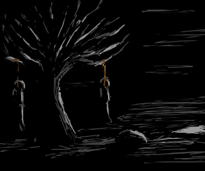 round the hanging tree, swayin in the breeze..