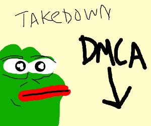 Memes get a DMCA takedown.