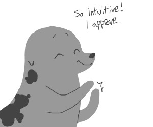 Seal of approval claps.