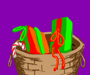 A basket of christmas gifts