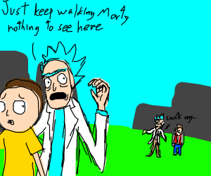Rick and Morty meat Doc and Marty
