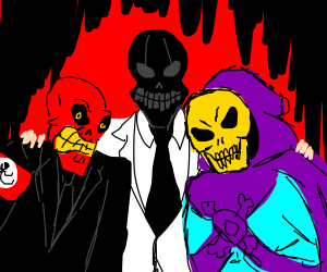 The Red Skull, Black Mask and Skeletor show!