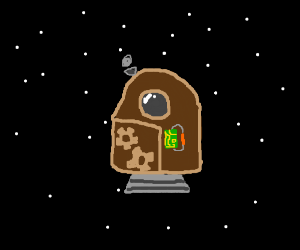 That steampunk space pod looks good to me!