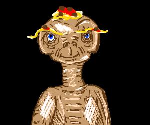 ET with spaghetti eyebrows