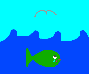 fish wishes it could fly, so sad