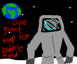 Bubbles flies into space