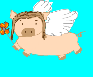 aviator pig with pinwheel