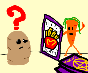Potato Confused by Tarot Card Reading