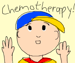 caillou is actually bald because he has cancer drawing by ironsymbol