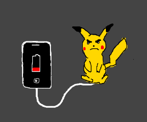 Charging your phone with Pikachu