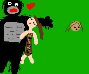 Jane cheating on Tarzan with Kong