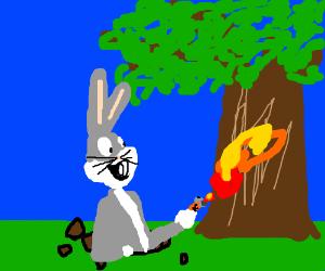Bugs set innocent trees on fire