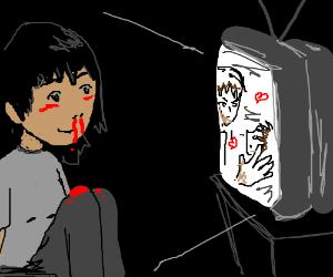 girl watches yaoi