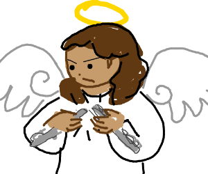 Angel Break Flute in Half