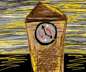 Time goes backwards