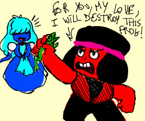 Ruby destroys frog for gay lover, Sapphie <3