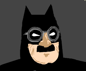 Batman's clever disguise; maybe not so clever