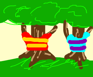 Trees wearing pretty sweaters