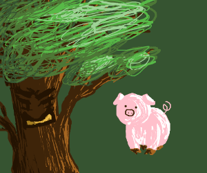 Tree is mad at pig
