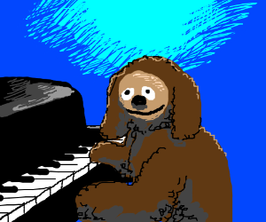 Rolf plays the piano