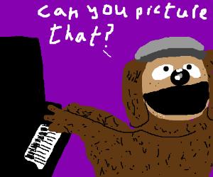 Rowlf the dog plays the piano