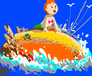 James and the Giant Peach meets Little Mermaid