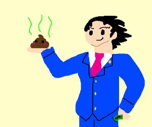 Phoenix Wright lawyer selling kawaii poo