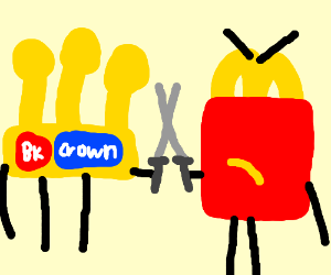 burger king vs mcdonald sword fight