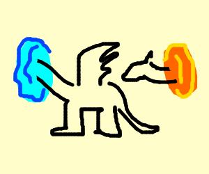 Dragon in a portal