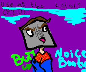 Don't care what you draw, just use all colors!