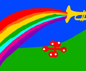 Trumpet of rainbow