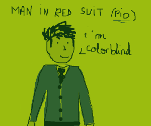 A man in a red suit (P.I.O.)