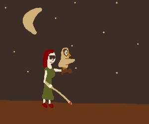 Owl guides girl through night, no explanations