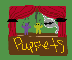 a blind puppeteer does a show
