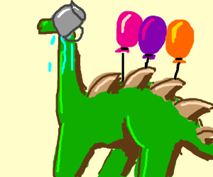 Dinosaur Party Prank Gone Wrong Drawing By Idaf