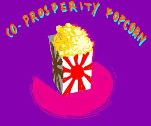 Patriotic Japanese Popcorn