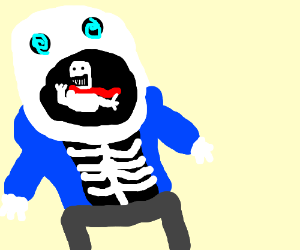 Sans goes mad and eats Papyrus!