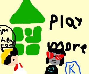Homestuck logo says play more