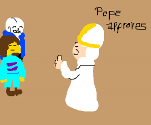 The pope approves Undertale