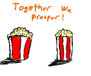 Co Prosperity popcorn.