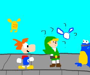 Rayman/Link(legend of zelda)  crossover
