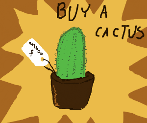 Buy a cactus for just 1.000.000 dollar.
