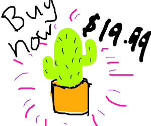 Highly persuasive advert for a cactus