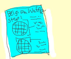 Belgian waffle blueprints