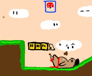 Sumo-wrestler is a part of Super Mario game