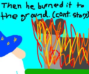 wizard captures castle w/ magic (cont. story)