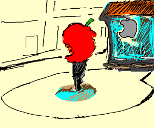 Applesign with bitemarks everywhere