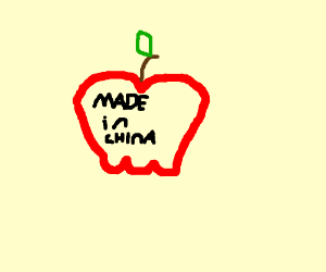seemingly artificial apple made in China