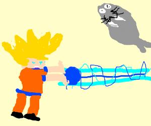 Goku kamehameha a walrus