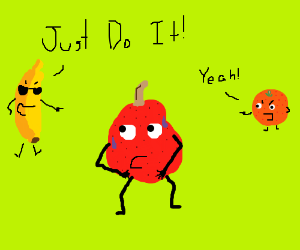 """Red pear gets bullied to """"Do it"""""""